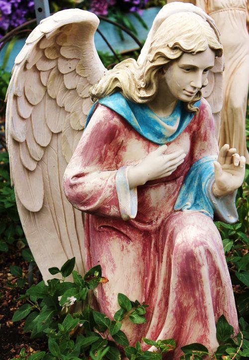 angel yard art statue