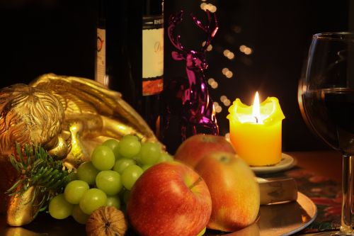 angel candle red wine