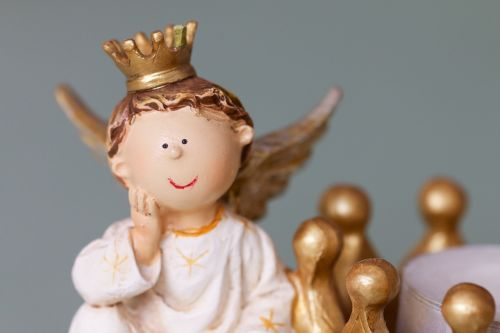 angelas,karūna,molio figūra,Kalėdų laikas