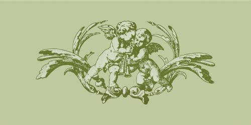 angel woodcut print