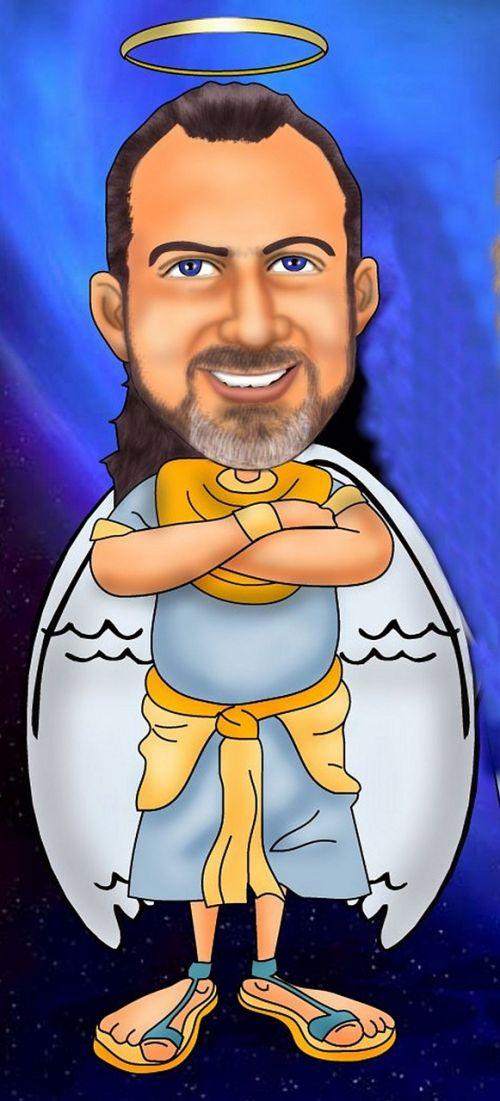 angel caricature halo