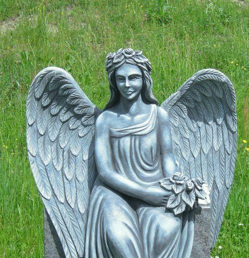 angel sculpture nature
