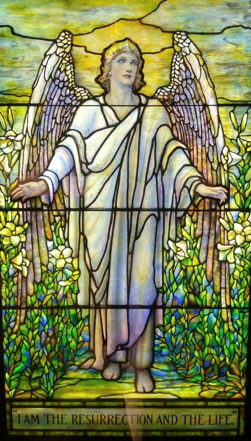 angel stained glass christian