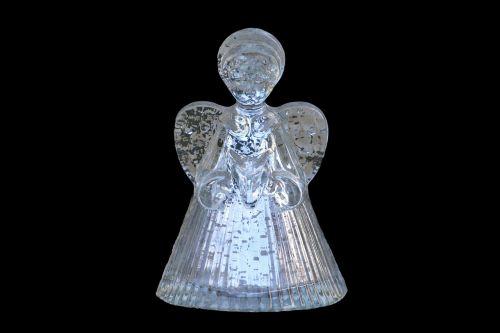 angel figurine glassware