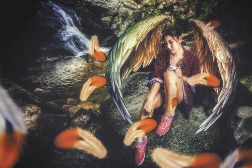 angel wings girl