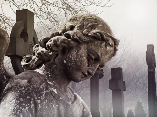 angel cemetery tears