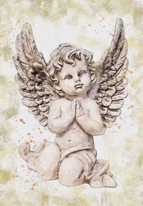 angel figurine vintage