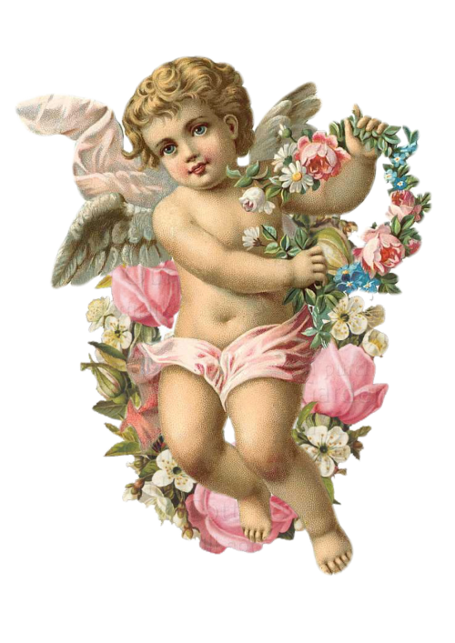 angel vintage flower