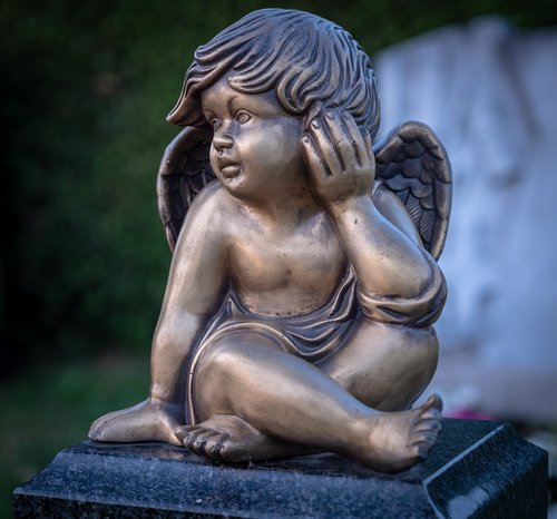 angel  bronze  catholic