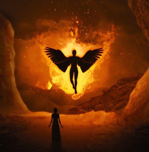 angel  fire  woman