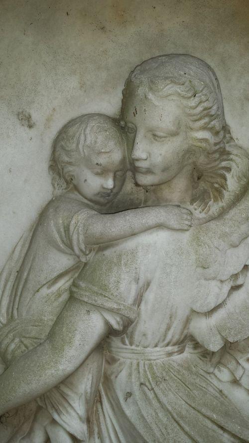 angel mother child