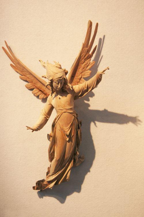 angel wood carved