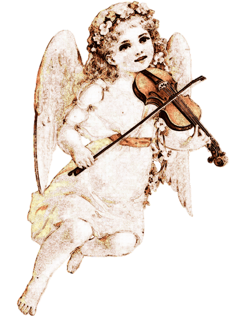 angel drawing violin