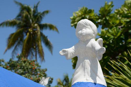 angel grave escultura