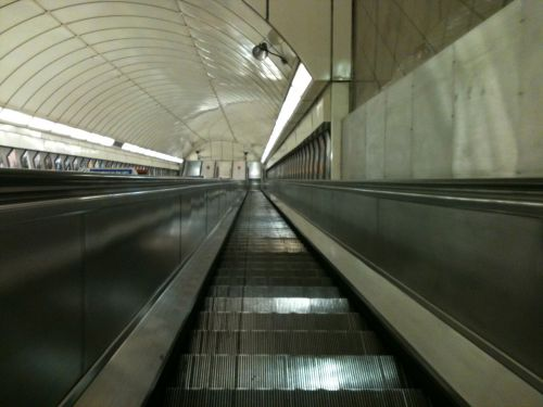 Angel London Underground Escalators