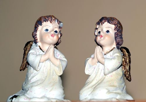 angelai, angelas, figūrėlė, skulptūra, meilė, vaikai, melstis, malda, religija, pucułowate, sparnai, menas, meditacija, emocijos, mąstymas, suprasti, Reverie, be honoraro mokesčio