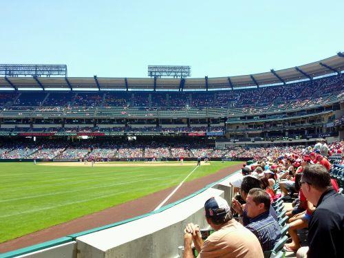 angels stadium baseball fans