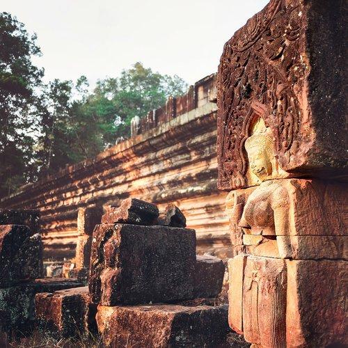 angkor wat  statue  architecture
