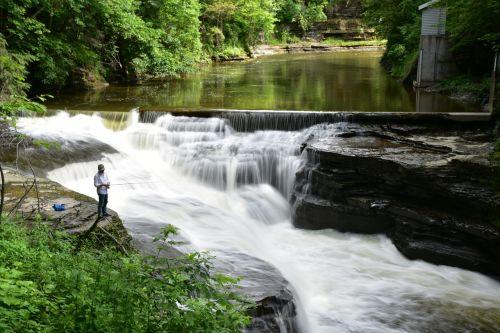anglers fishing river