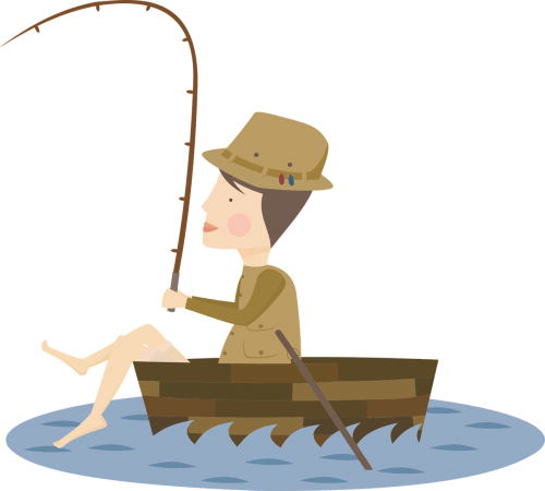angling fishing boat