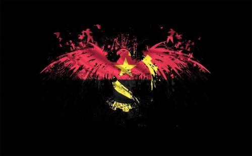 eagle angola flag