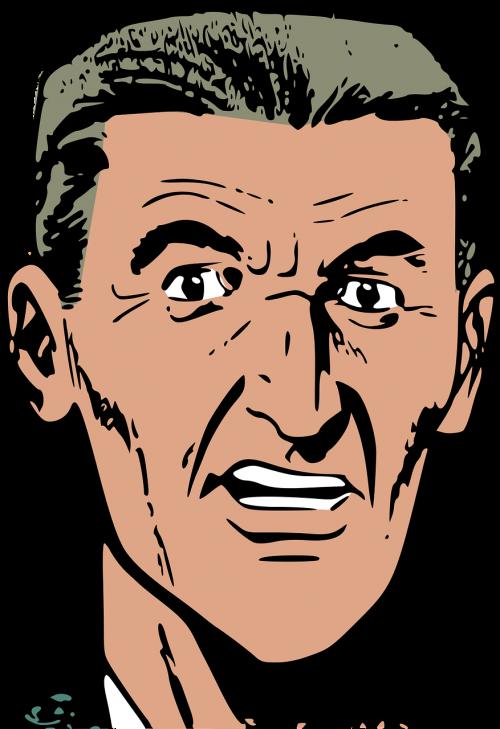angry head man