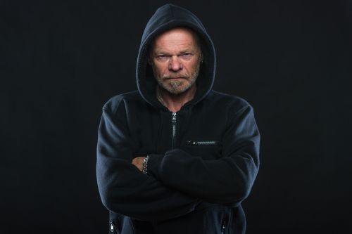 angry man hoodie