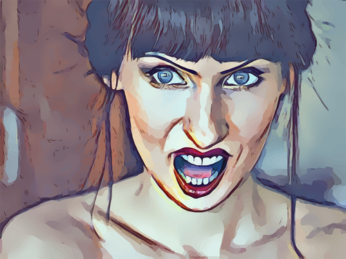 angry  woman  mouth