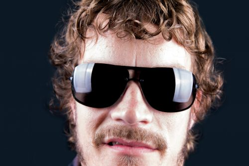 Angry Man In Sunglasses
