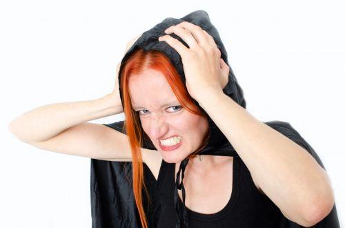 Angry Woman With Hood