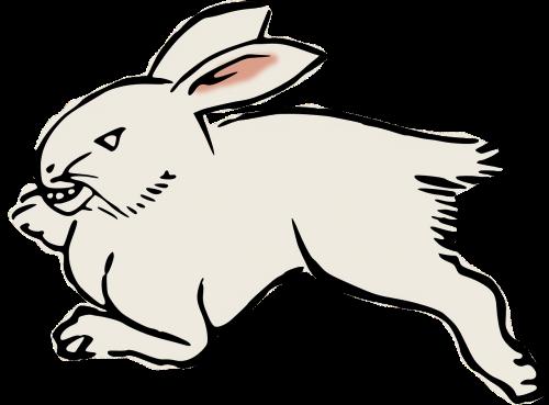 animal rabbit woodcut