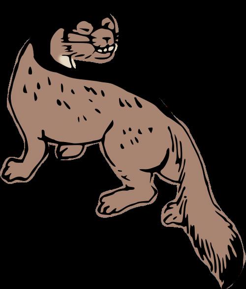 animal artwork weasel