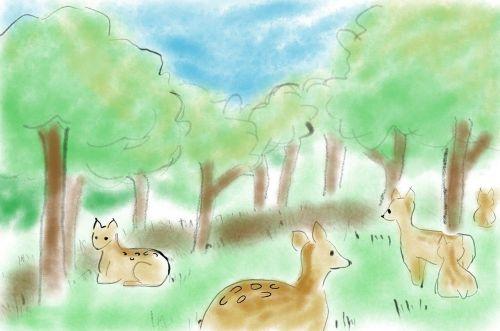 animal dear cartoon