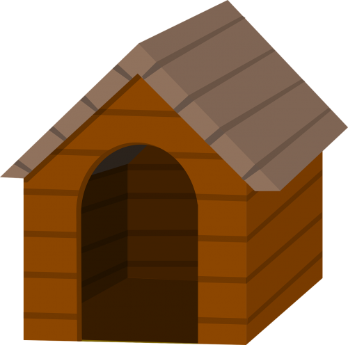 animal dog doghouse