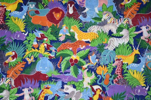 animated safari animals background