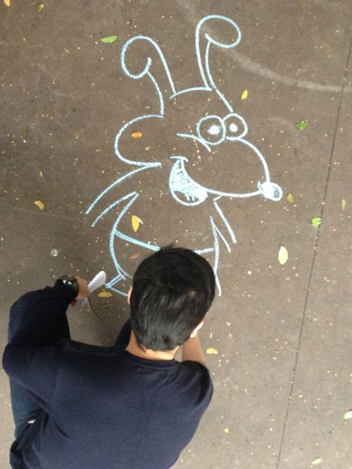 animation artist dog