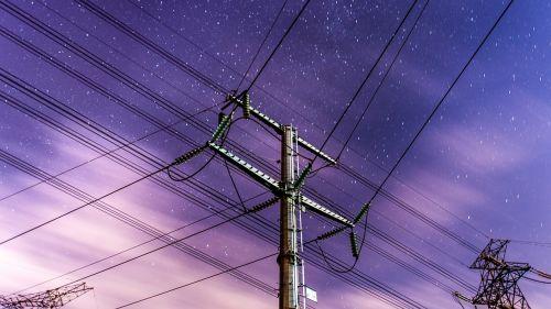 anime winds telephone poles night