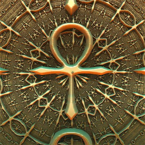 ankh pattern background