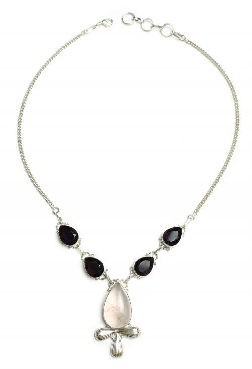 ankh rose quartz necklace