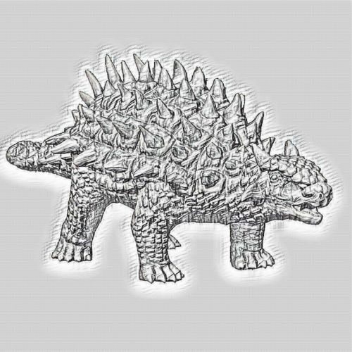 Ankylosaurus Sketch