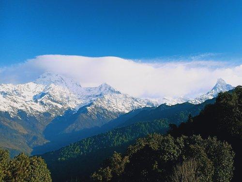 annapurna  machhapuchhre  mountain landscape