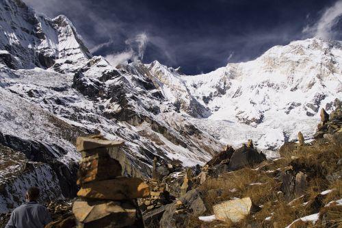 annapurna sanctuary himalaya mountain