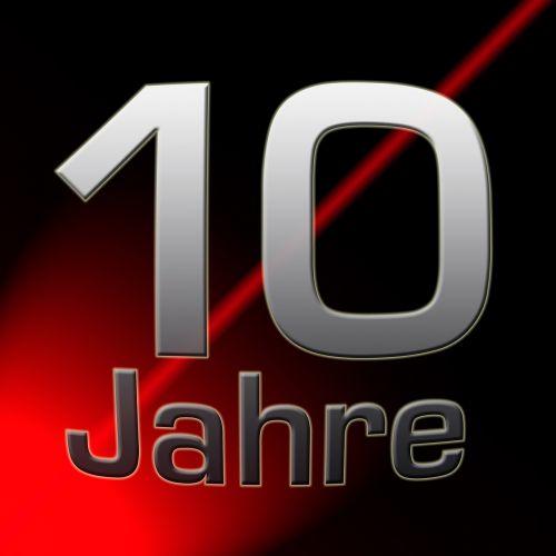 anniversary ten years years jubilee
