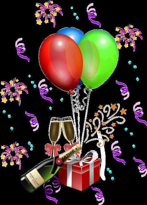 anniversary balloons bottle