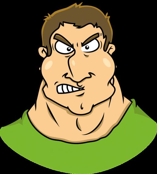 annoying brawny caricature