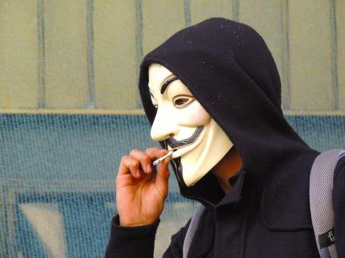 anonymous mask smoking