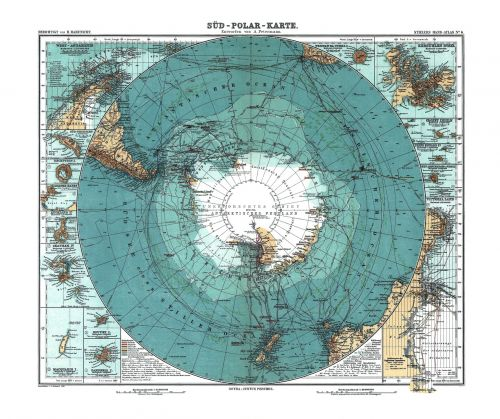 antarctica map old
