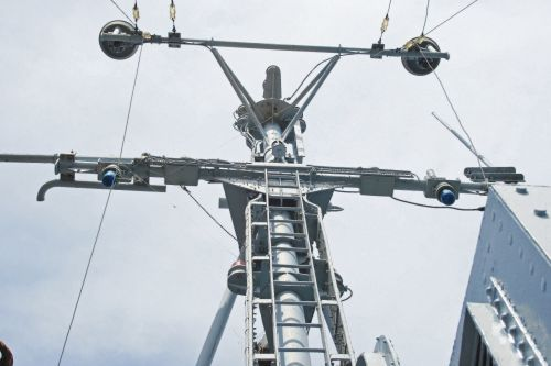 Antenna Of Naval Cruiser