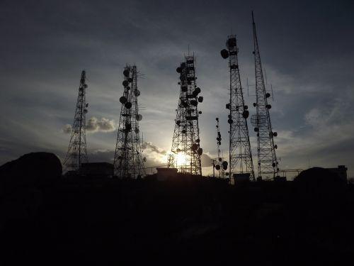 antennas sunset nature