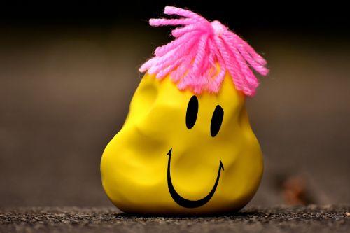 anti-stress ball smiley deformed